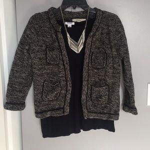 Ann Taylor Loft tweed sweater size medium.